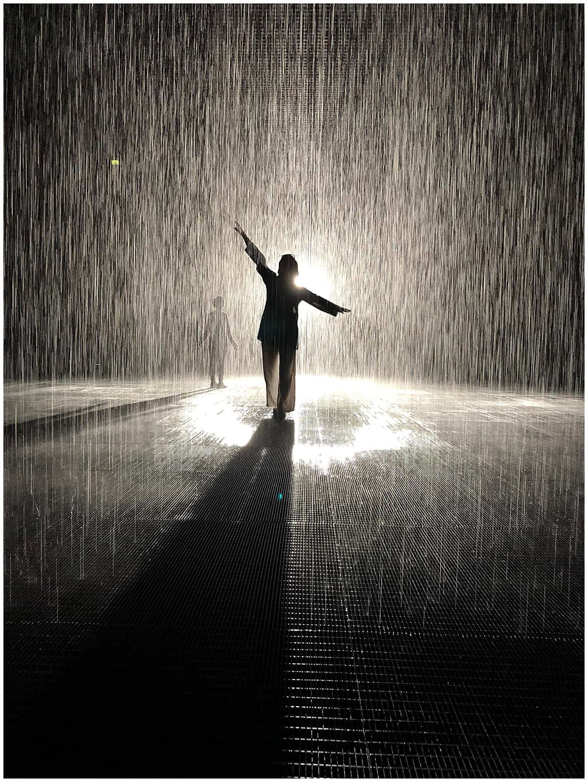 Abigail King of Inside the Travel Lab in the  Sharjah Rain Room