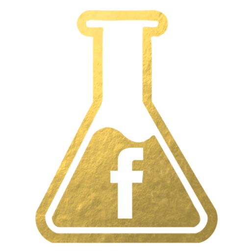 Gold flask facebook page for Inside the Travel Lab by Abigail King