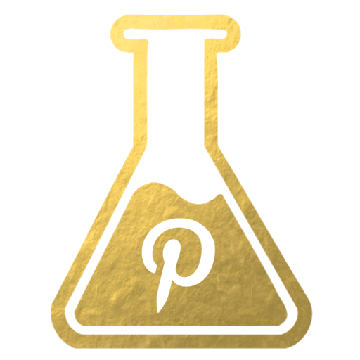Pinterest gold flask icon for Inside the Travel Lab sustainable luxury food blog