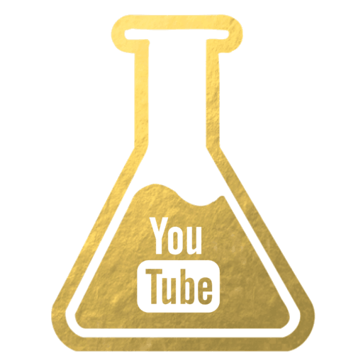Youtube gold flask icon for Inside the Travel Lab luxury food sustainable UNESCO channel