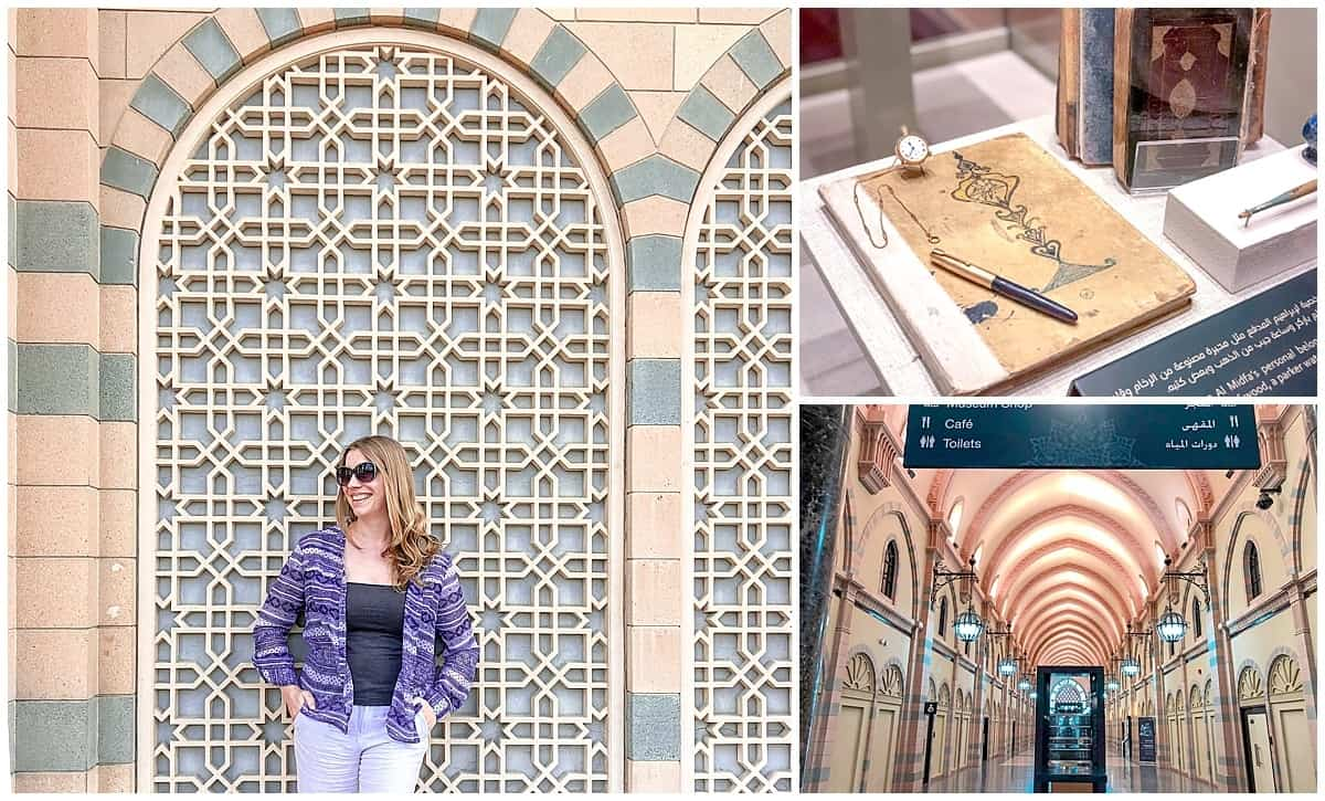 Abigail King in front of Islamic Museum of Civilisation