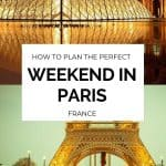 A weekend in Paris. Plan your 2 days in Paris with this travel guide and itinerary from a Francophile and pro travel writer. Mix classical Parisian attractions with off the beaten path travel ideas to explore the City of Lights. #Paris #Travel #Weekend #itinerary