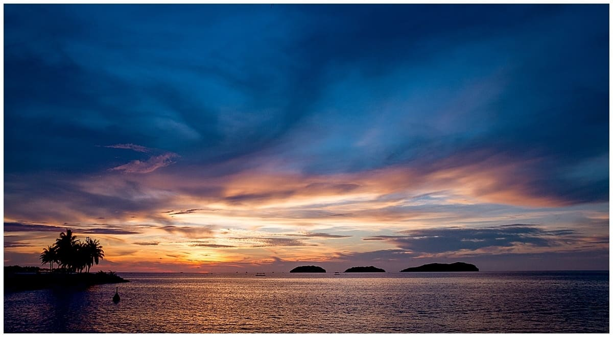Places of Interest in Sabah include the spectacular sunsets such as the one from Sutera Harbour