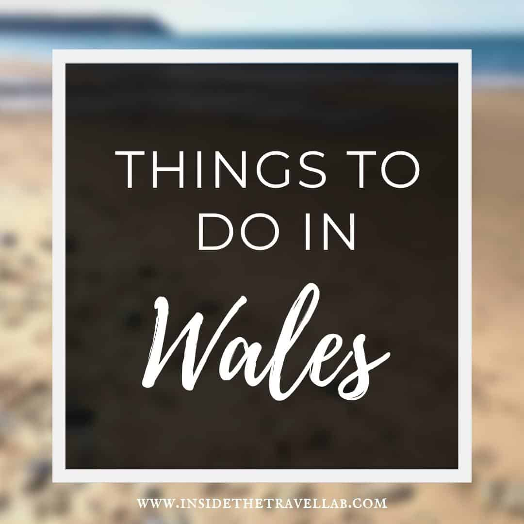 Things to do in Wales - guide text on beach in west wales
