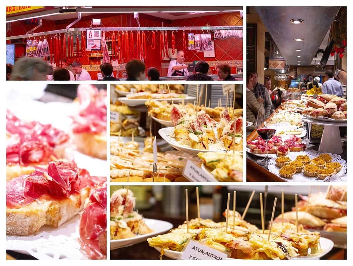 PIntxos options in San Sebastian
