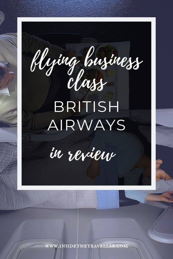Flying Business Class with British Airways goes by the name Club World and has important features you should know. Here\'s our BA Business Club review, including the layout, service, cabin and news about the new seat due in 2019. #Flying #BritishAirways #ClubWorld #BusinessClass #LuxuryTravel