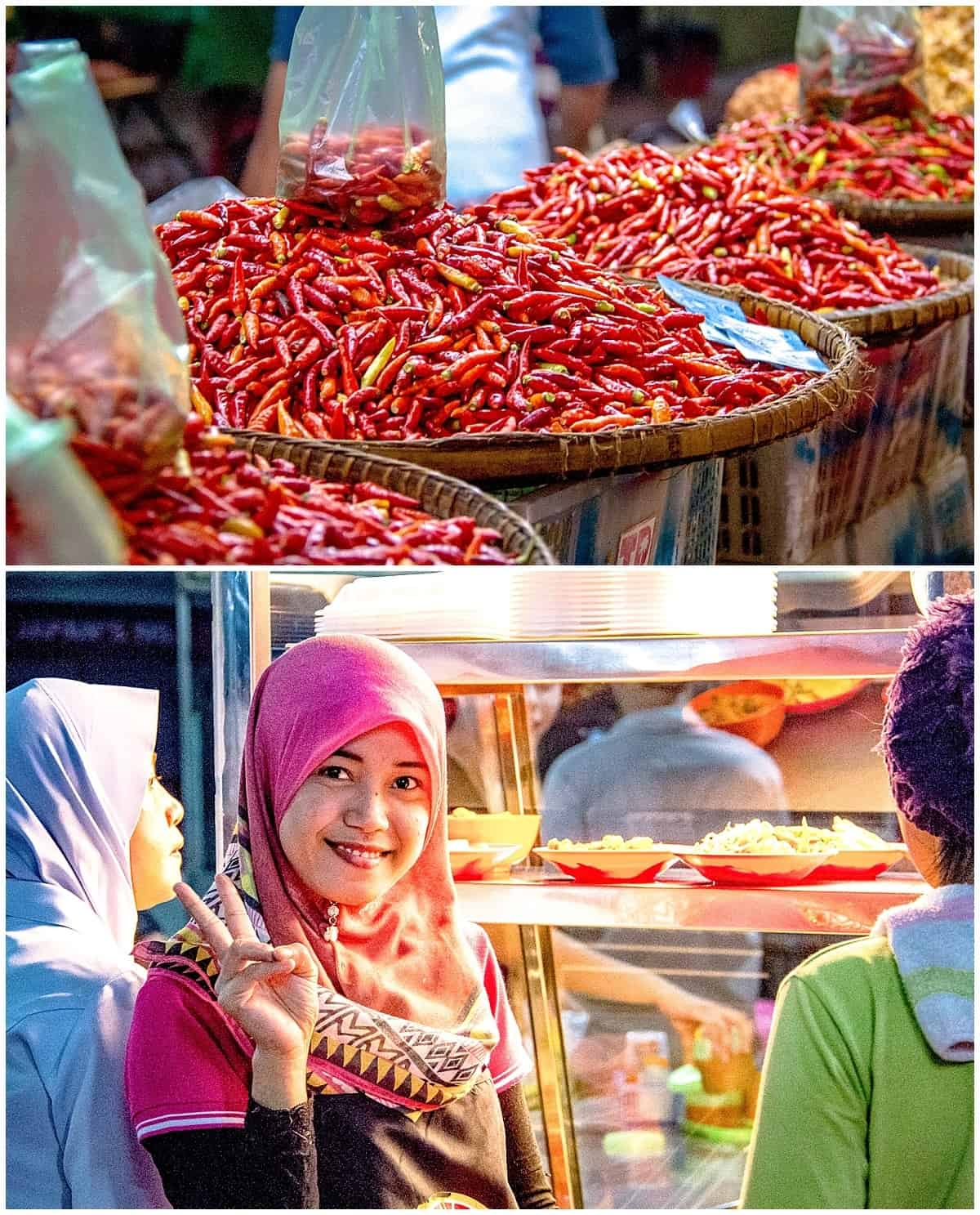 Red chilli pepers for sale in Sabah Malaysian Borneo