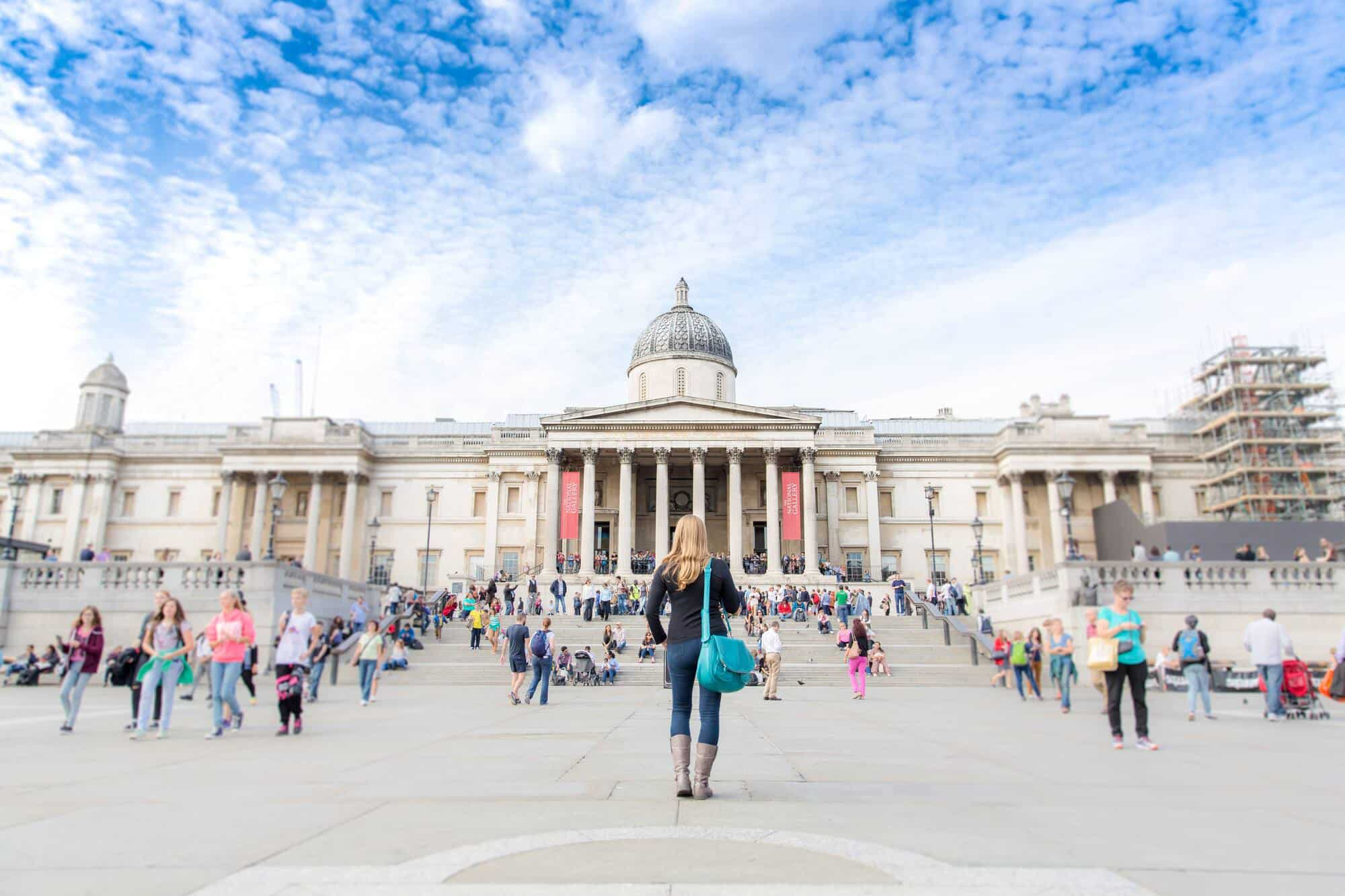 Abigail King stood in London England outside the National Gallery