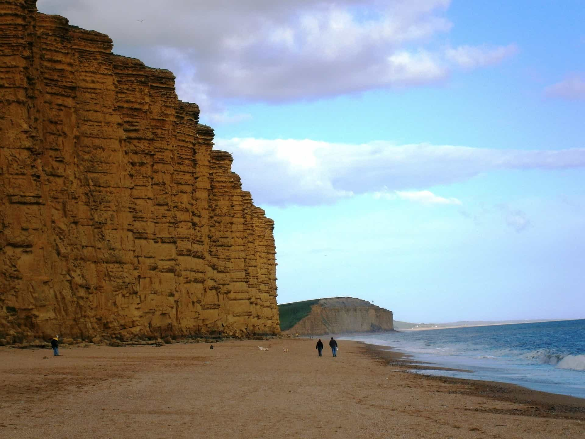 Dramatic cliffs at Bridport the Broadchurch location on the Jurassic Coast of England