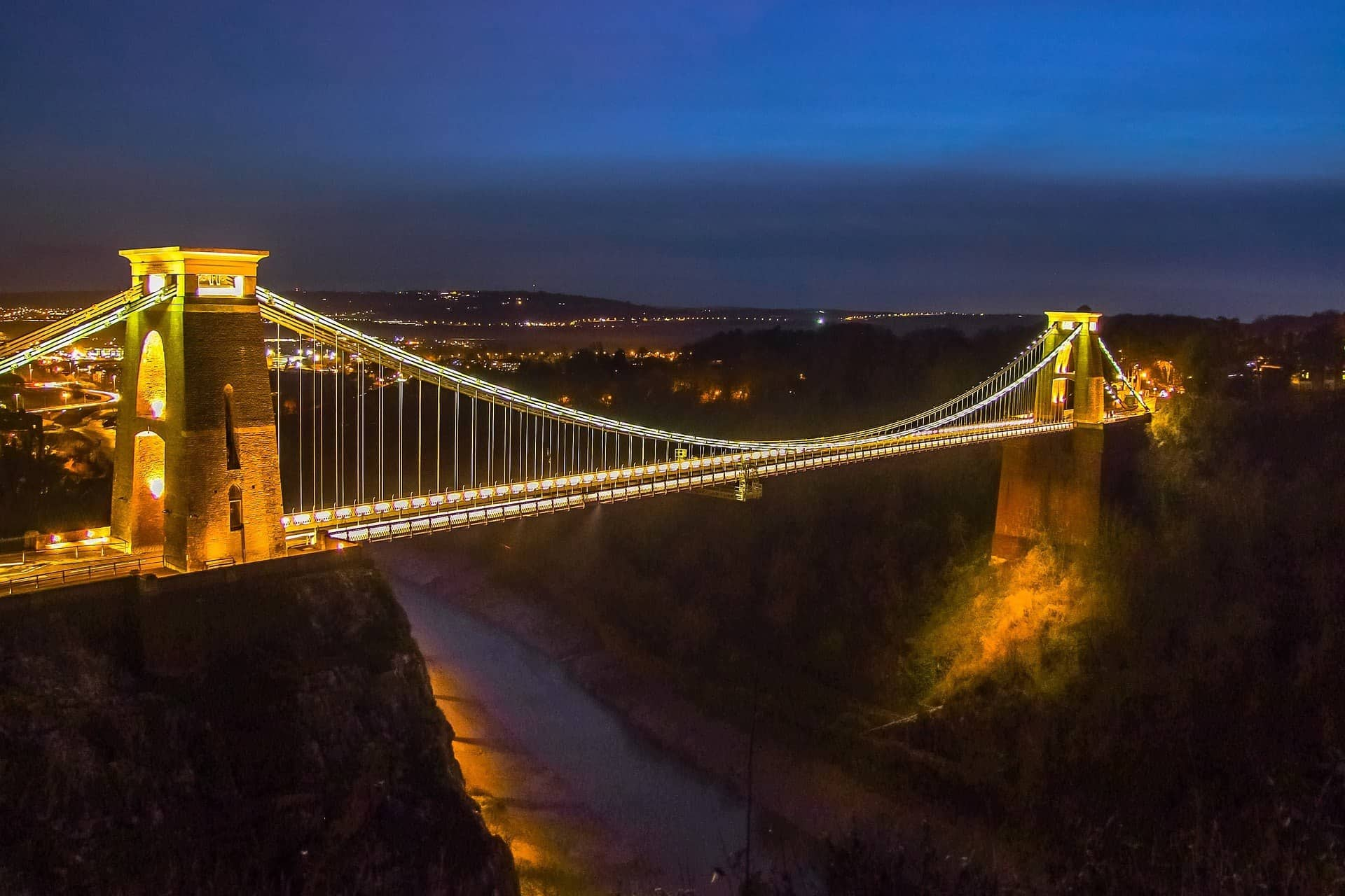 Suspension bridge in Bristol England