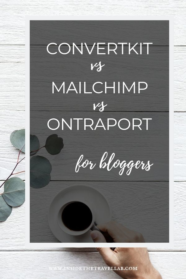 A clear guide to ConvertKit vs Ontraport vs Mailchimp for bloggers. Stop the confusion, read the details and understand which works best for you. Don\'t waste money and don\'t waste time. Check out this essential guide on email for bloggers today. From a professional blogger with 10 years in the business. #blogging #Email #ConvertKit #Mailchimp #Ontraport