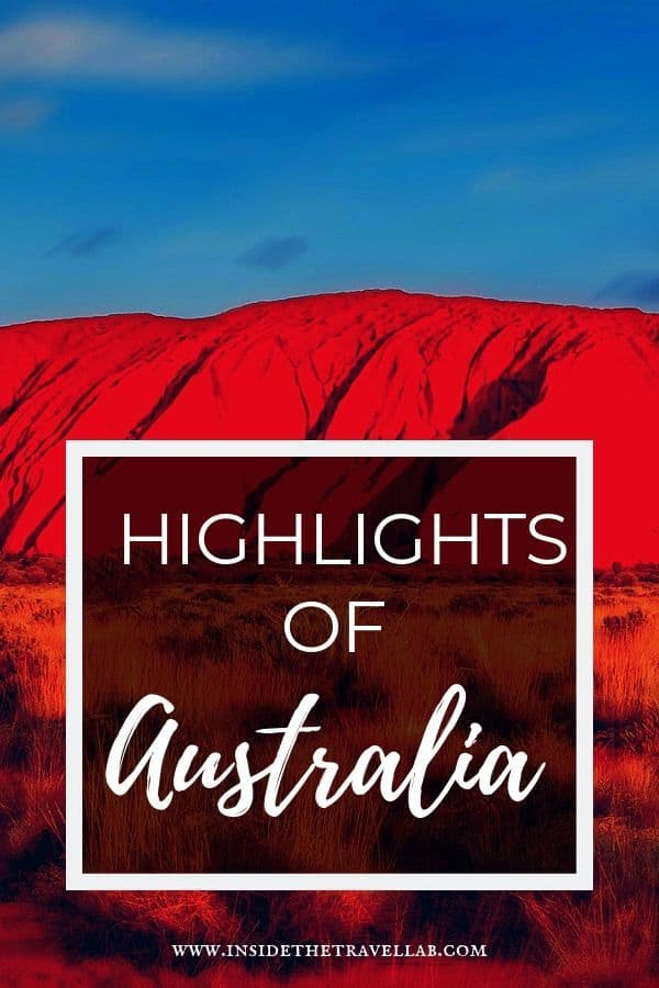 Highlights of Australia image over Uluru Australia