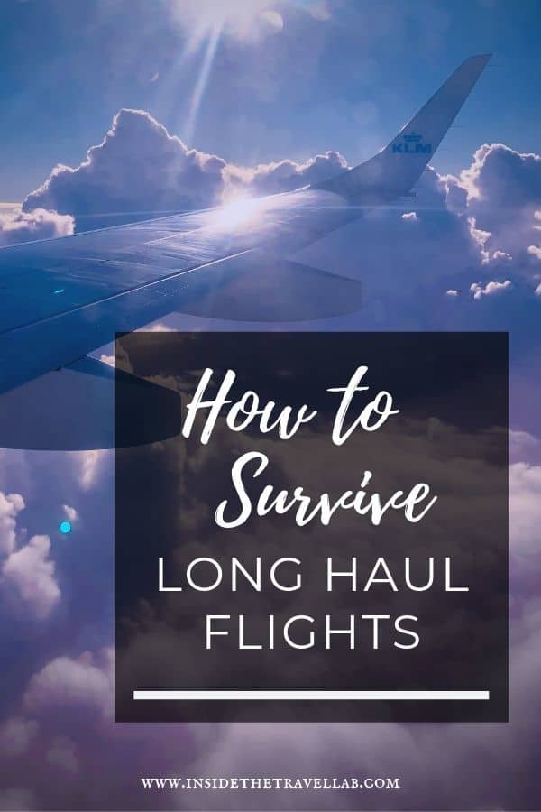 23 long haul flight tips to help you survive and even enjoy a long haul flight! Tip 13 certainly made all the difference to me. Includes what to wear on a long haul flight, what to pack for a long haul flight and how to make sure you get the seat you want when you fly. #Travel #TravelTips #Flying