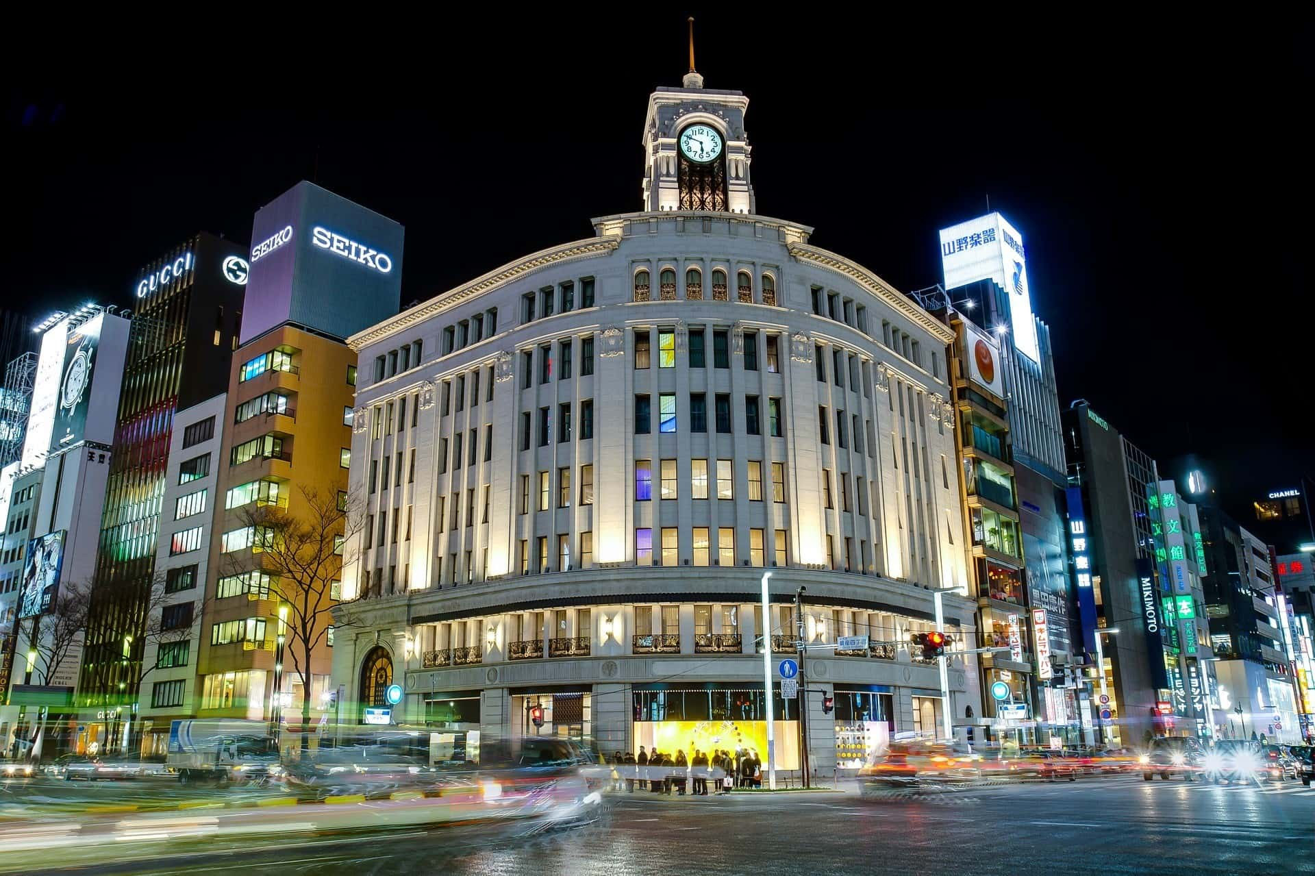Ginza part of Tokyo in 5 days itinerary