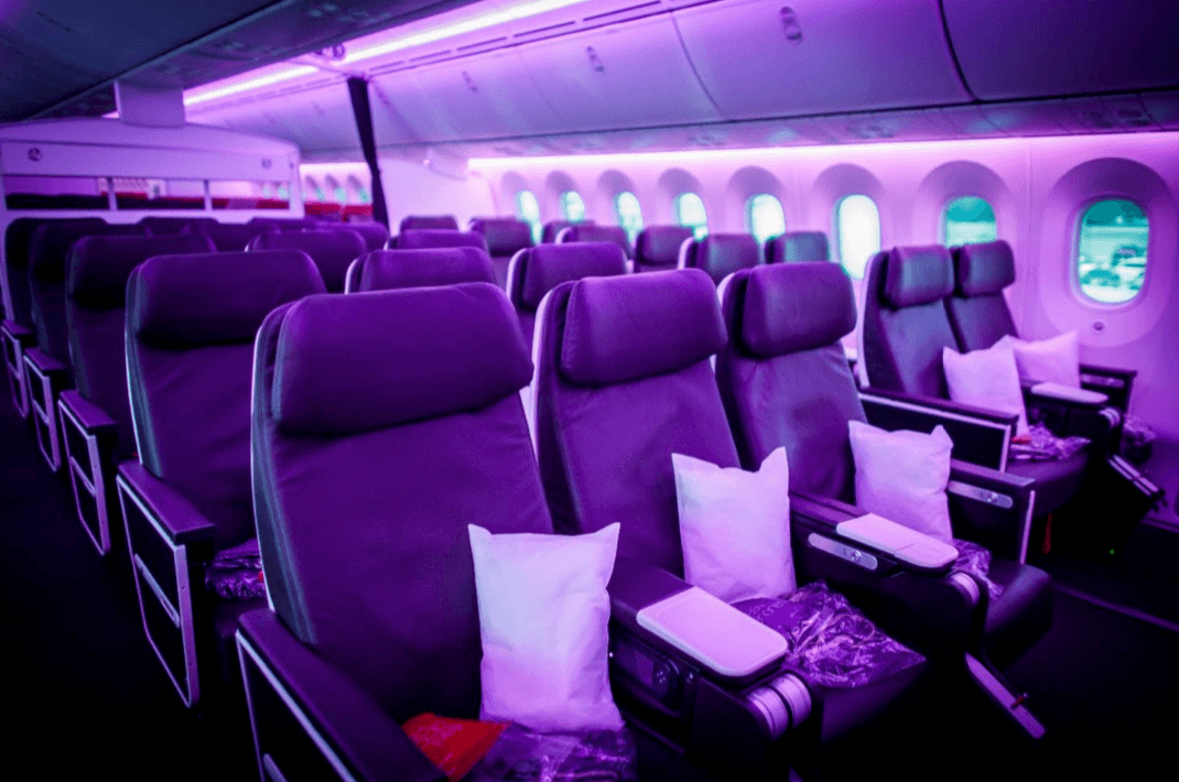 View of Virgin Atlantic Premium Seats