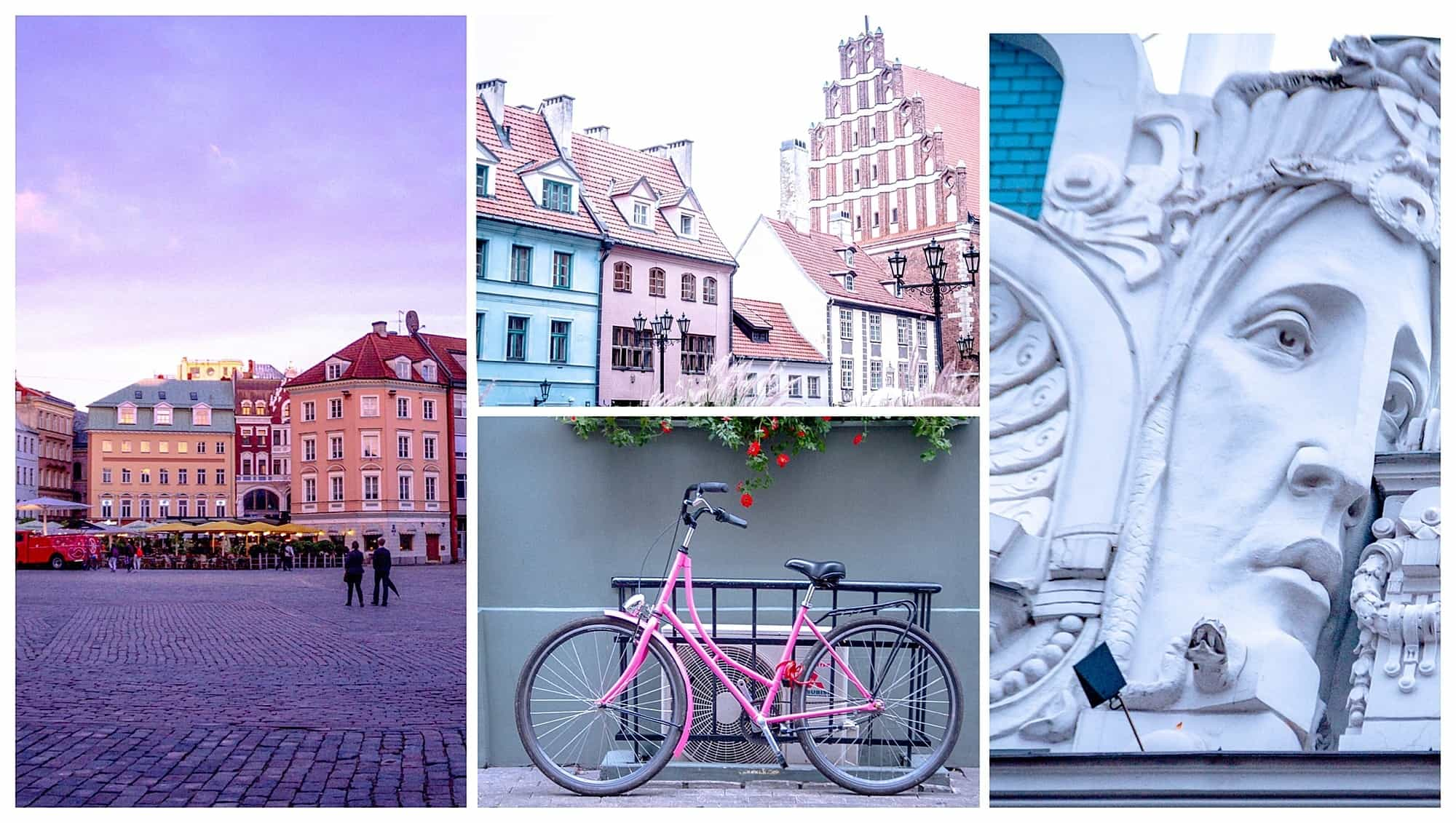 Latvia - Riga - collage for Riga itinerary