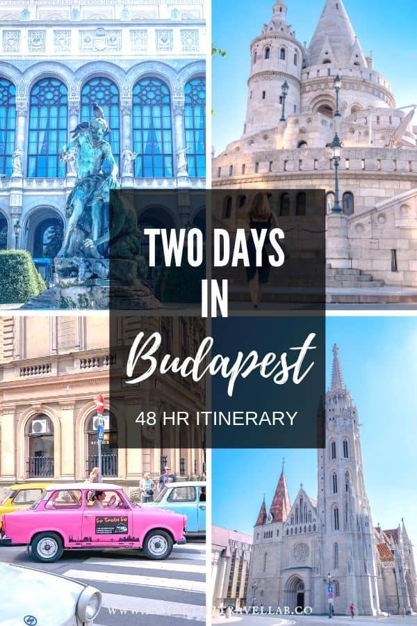 Budapest things to do in two days pin image