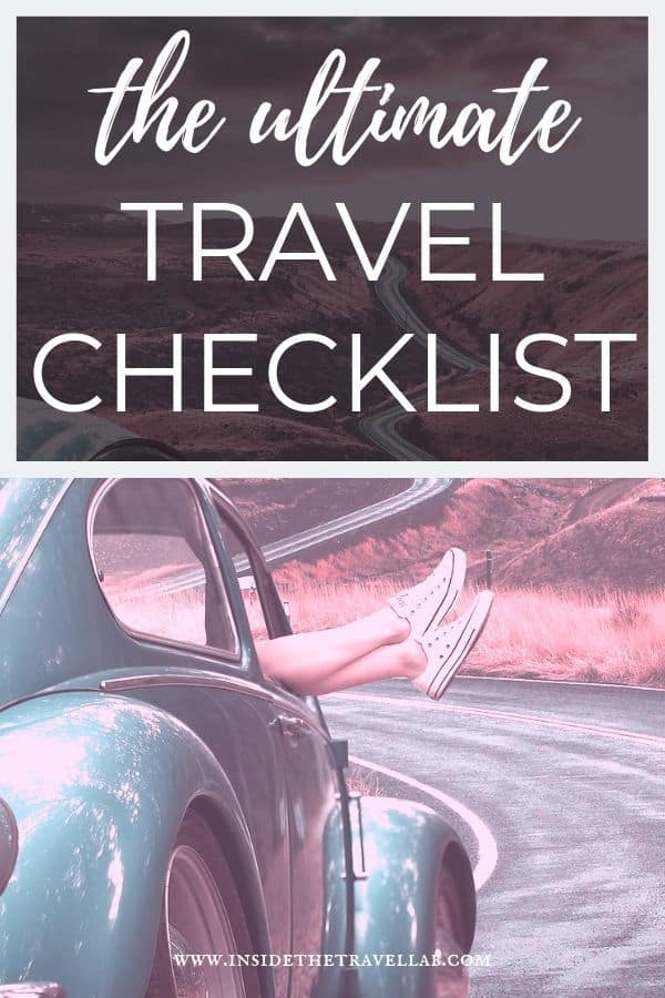 The ultimate travel checklist