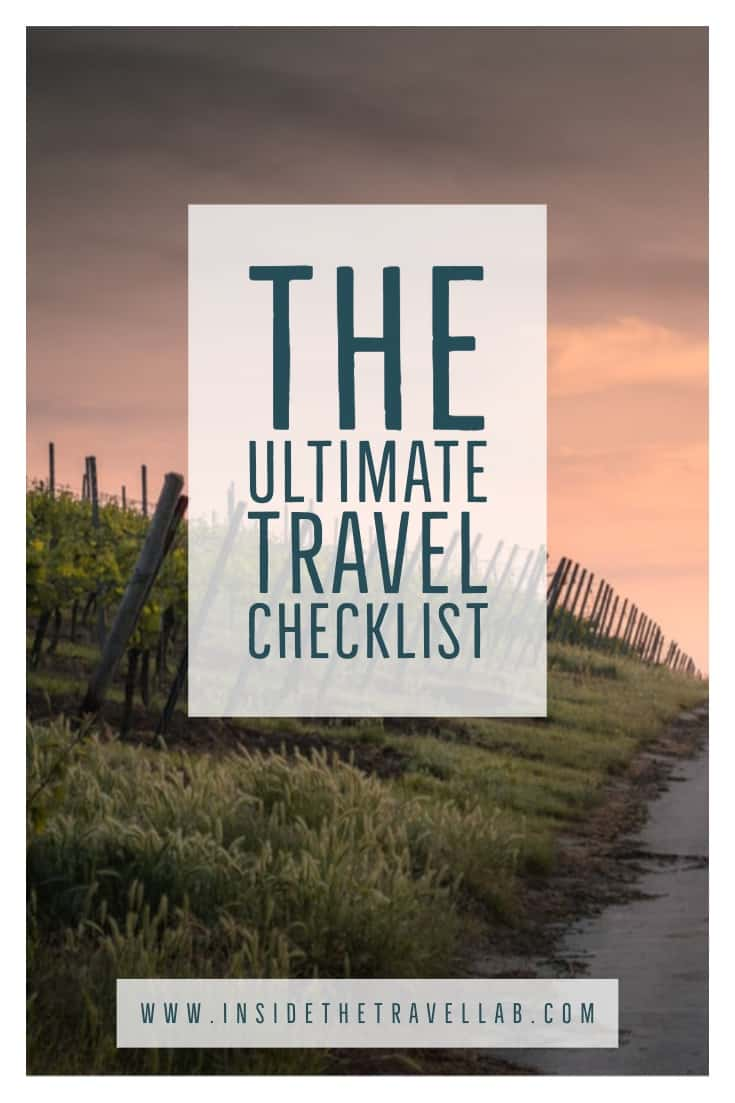 Sunrise over fields in the ultimate travel checklist