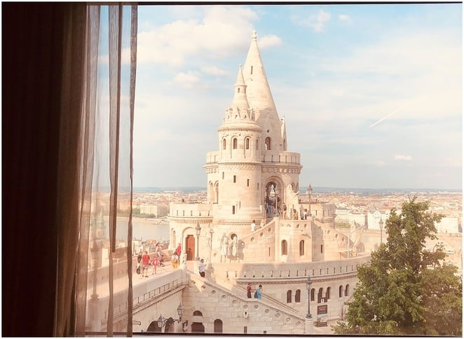 View from Hilton Budapest Fishermen's Bastion
