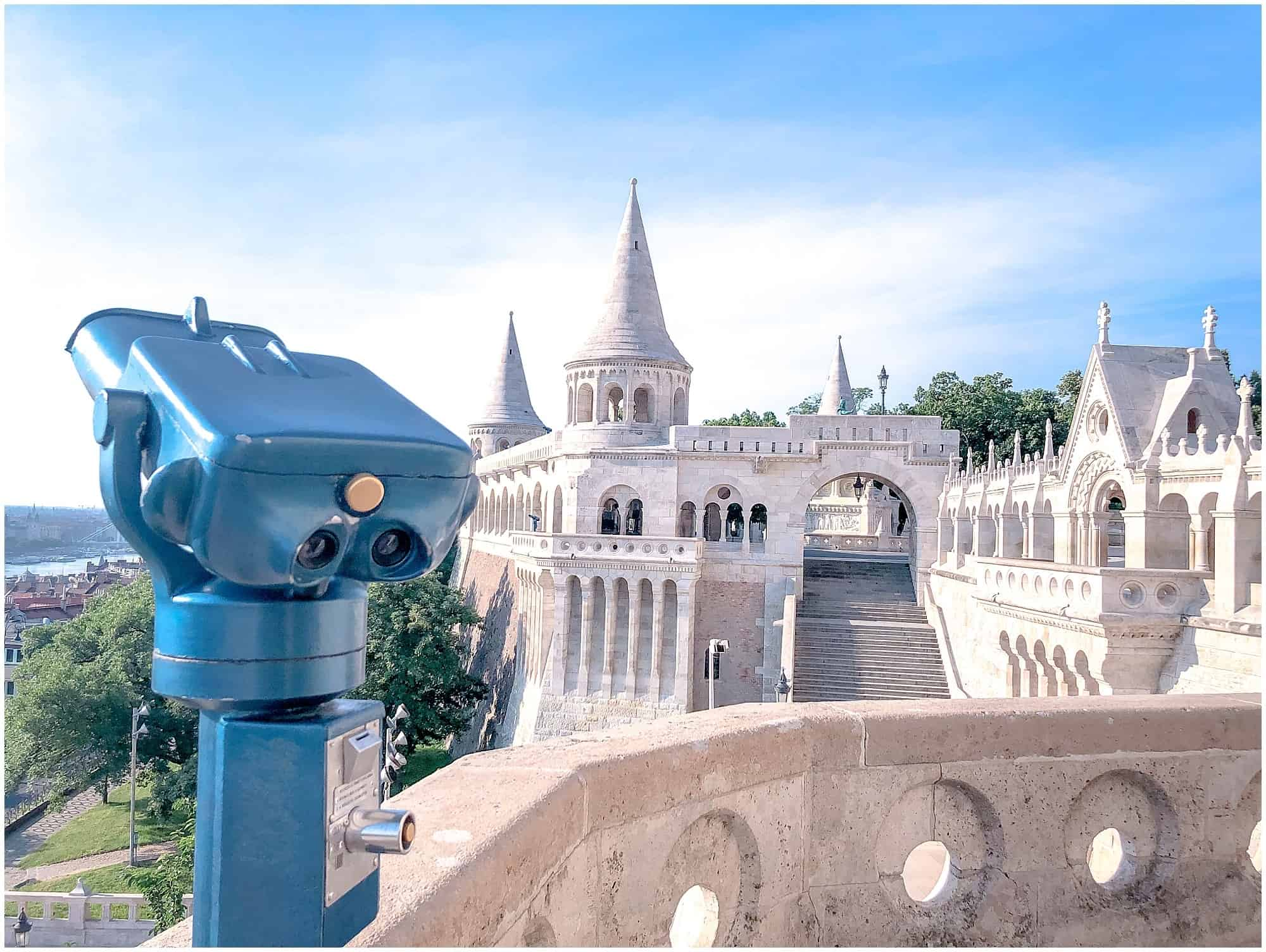 Viewing binoculars at Fishermen's Bastion Budapest