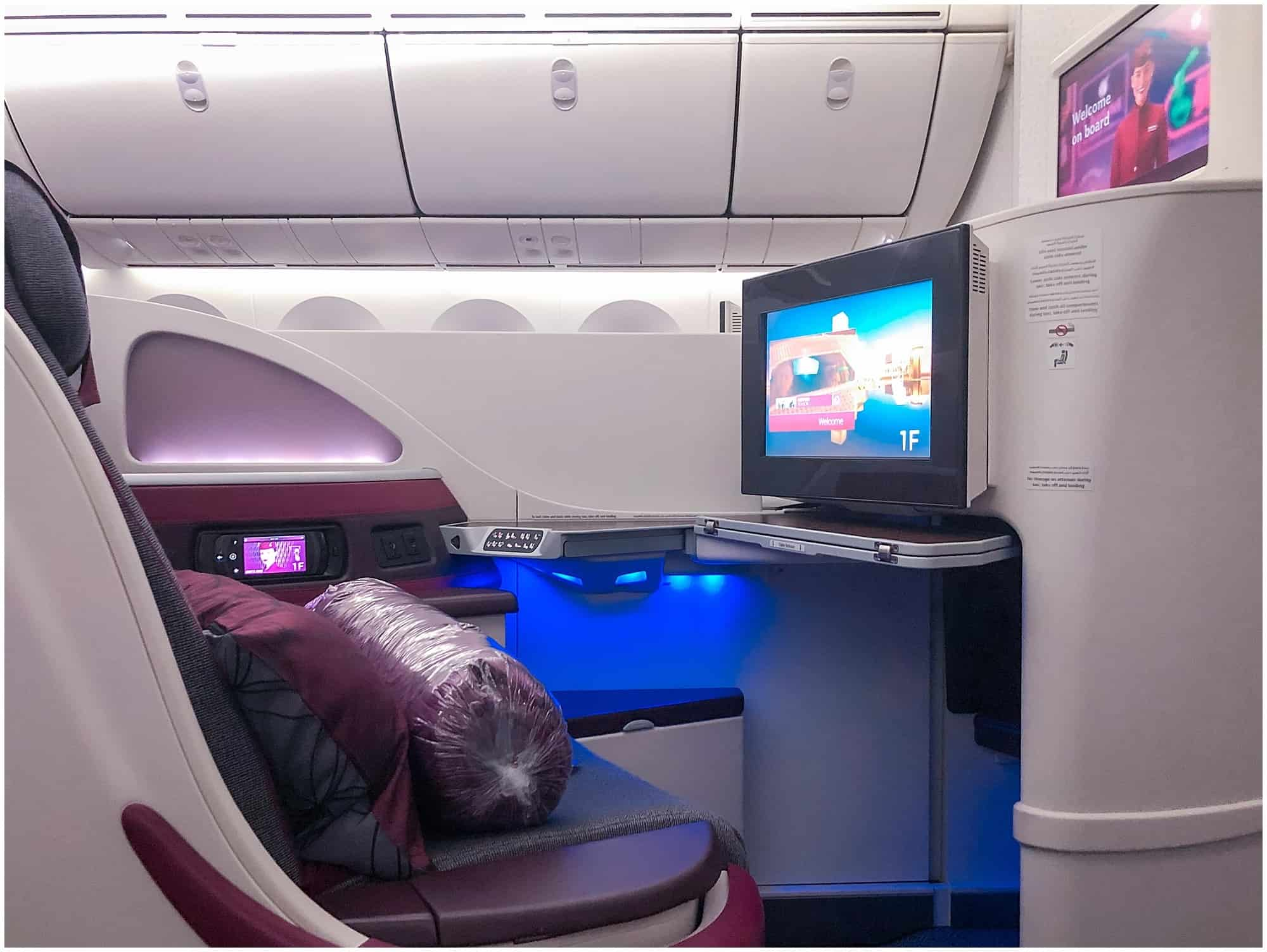 Aisle seat in Qatar business
