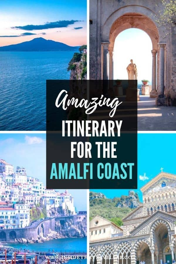 Amazing Amalfi Coast Itinerary including Positano, Sorrento, Amalfi, Ravello and Capri. Even Mount Vesuvius. Great for planning a trip to Italy and enjoying her UNESCO World Heritage Sites