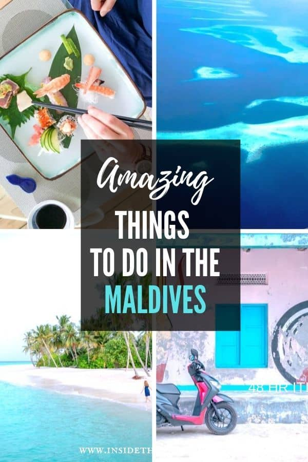 Amazing things to do in the Maldives Pinterest Image