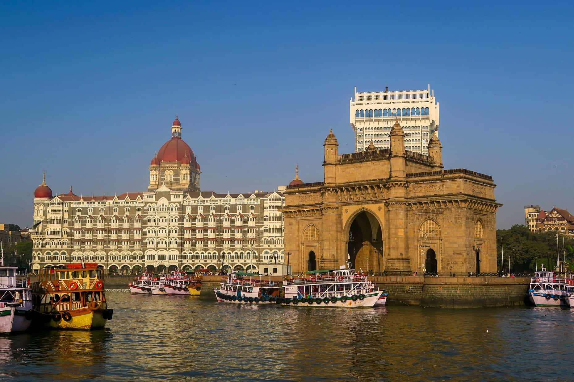 Gateway of India and Taj Hotel Mumbai