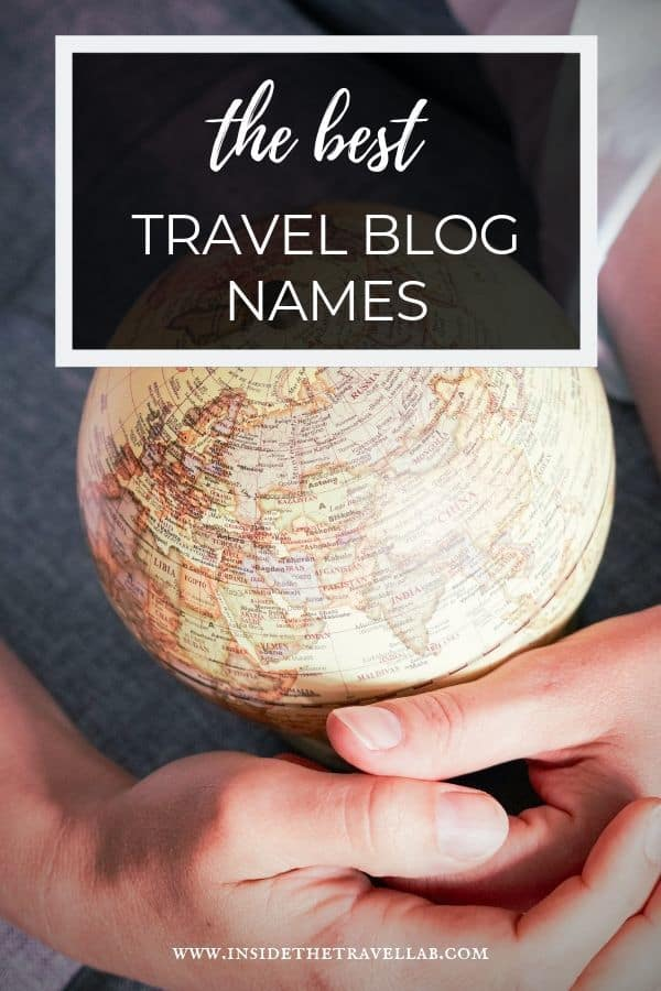 How to find the best travel blog names for your blogging journey. Includes a checklist to work out your new WordPress blog name. #blogging #blogger #tips