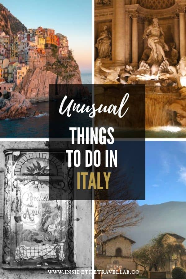 Unusual things to do in Italy - Find unique and quirky things to do in Italy here, from secrets in Rome to ghosts in Tuscany, landscapes in Amalfi and beyond. #Italy #TravelItaly