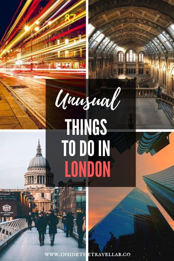 Unusual things to do in London - Pin to save unique and quirky travel ideas for things to do in London England. Make the most of your trip to the UK with these travel ideas #London #England #TravelLDN #LDN