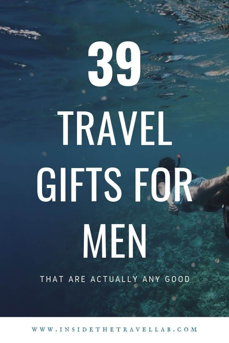 39 Travel gifts for men. Find the perfect present idea for him with this gift guide that covers budget, luxury and mid-range. We include choices for business travelers, backpackers, luxury travelers and travel decor for the home. All with easily shoppable links. Buy gifts for him that he'll actually use. #travel #gift #present #men