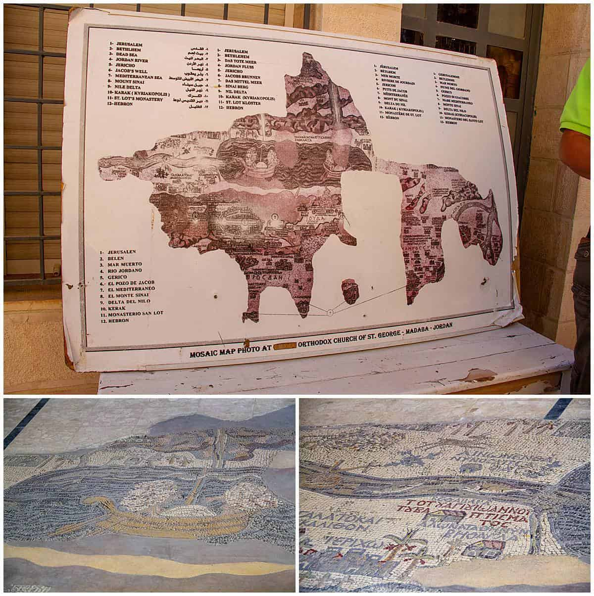 Madaba map of mosaics of the holy land