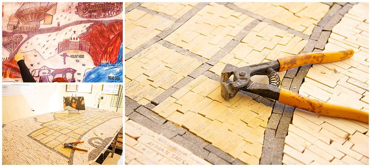 Mosaic clipper in Jordan