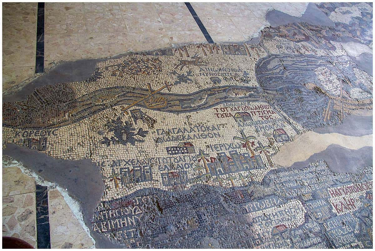Mosaic map in Madaba Jordan