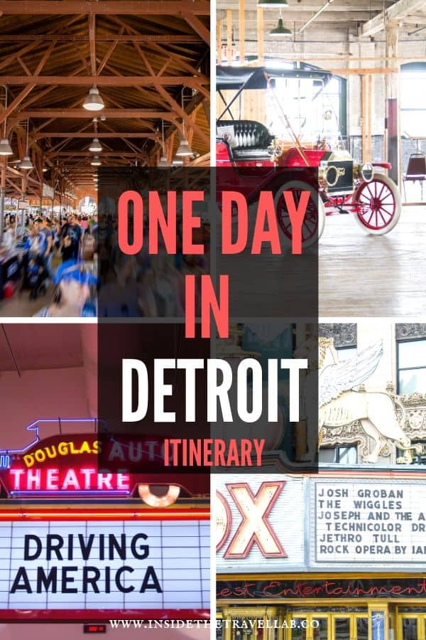 One day in Detroit Itinerary - find the perfect way to travel Detroit with these top attractions and things to do and see in Detroit, Michigan. #Detroit #USA #America #Michigan