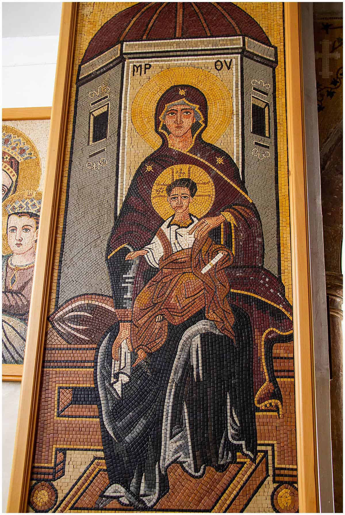 Saint George church mosaic in Madaba Jordan