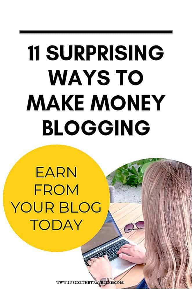 Surprising ways to make money blogging for beginners. How to monetize a blog for beginners and still be able to work from home. Suitable for WordPress blogs or Squarespace blogs. #blogging #bloggingtips #monetize