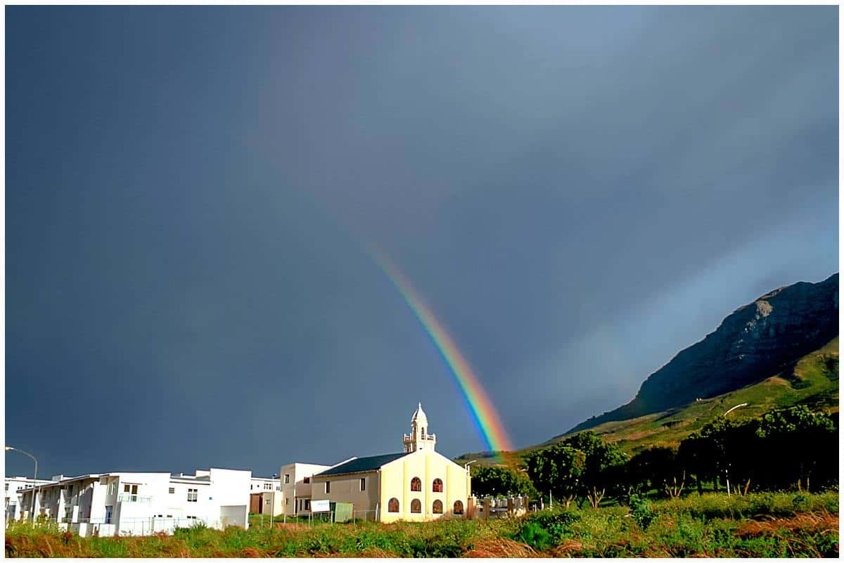 Cape Town Rainbow - A Sign of why South Africa is called the Rainbow Nation