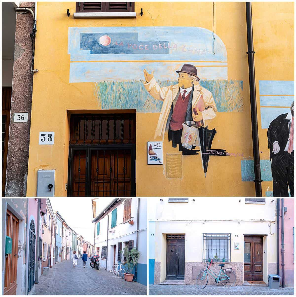 Italy - Emilia Romagna - Rimini-Borgo - Fisherman murals in the Borgo