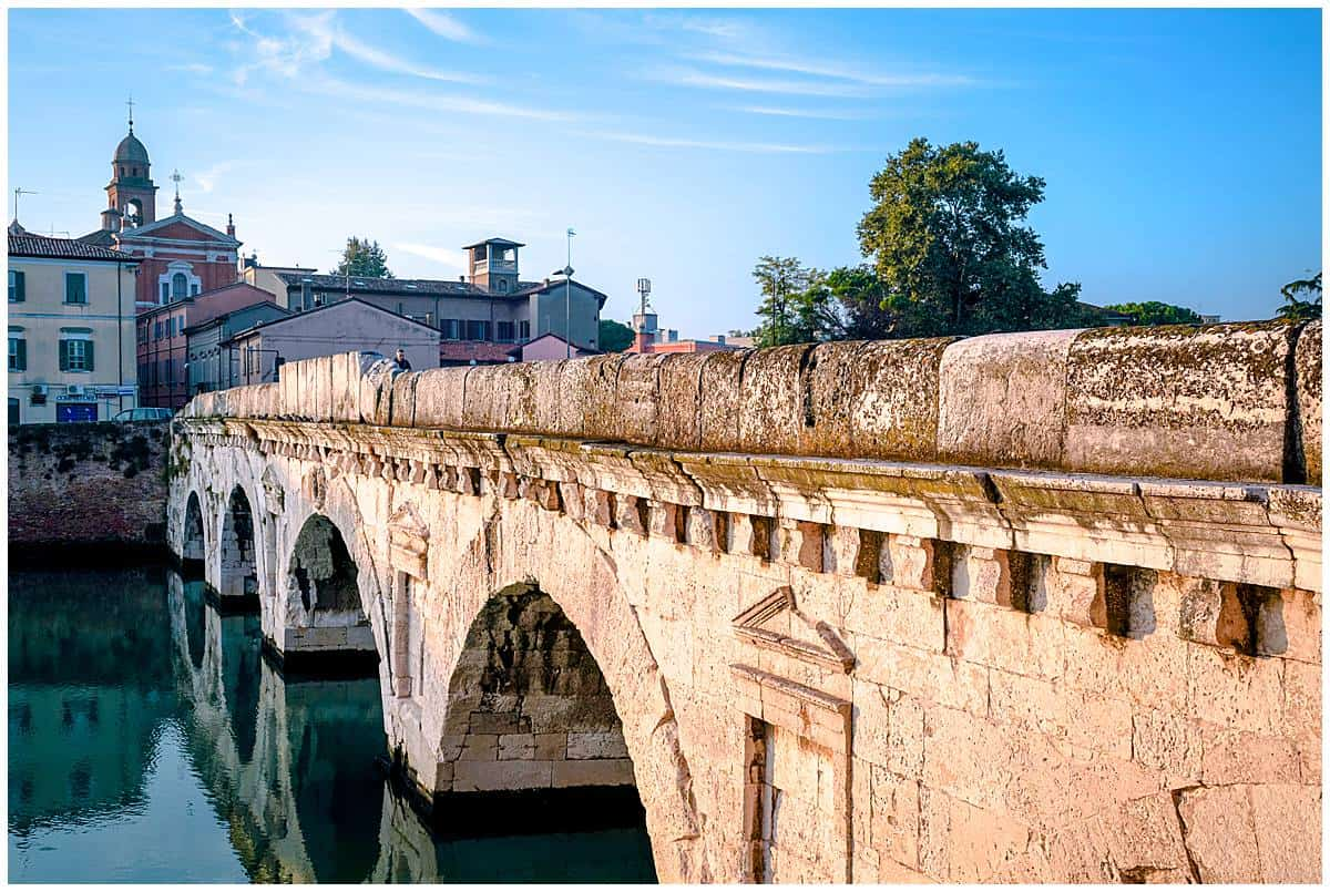 Italy - Emilia Romagna - Rimini-Bridge to the Borgo