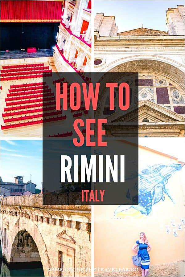 How to see Rimini in Italy. A handy travel guide for this reinvented coastal town. Full of Italian food, history, art and architecture with new museums and theatres to add a splash of culture. #Italy #Rimini