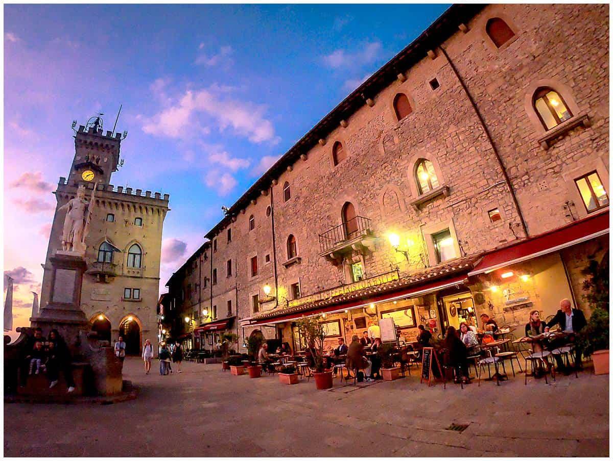 Liberty Squiare or Piazza della Liberta in San Marino Italy