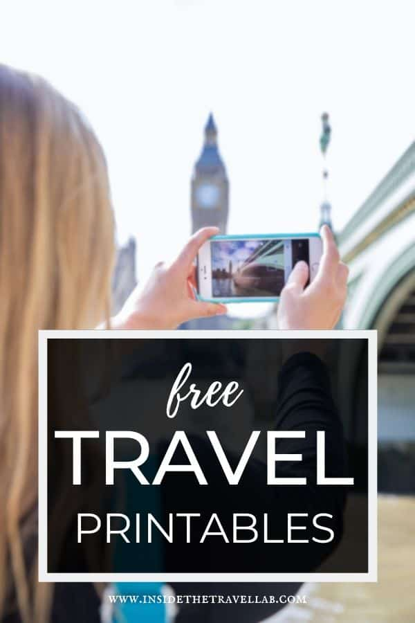 Free travel printables to download today on your smartphone