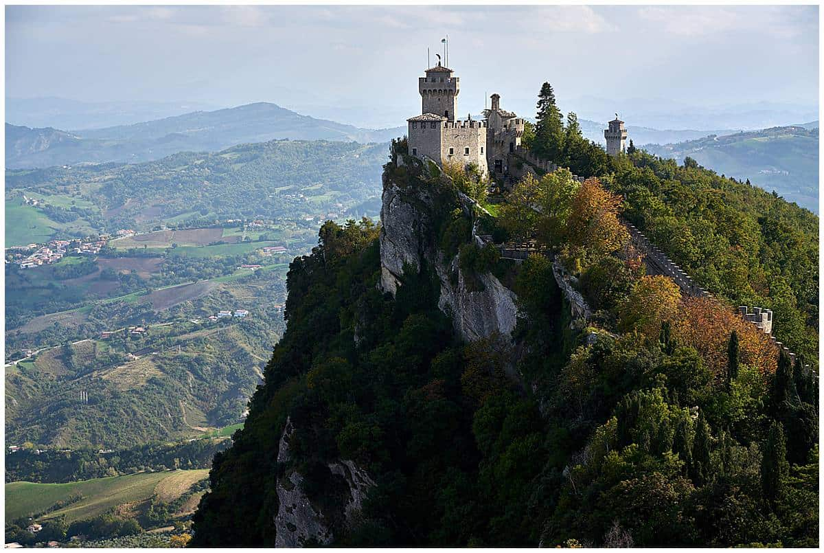 Cesta tower in San Marino Italy