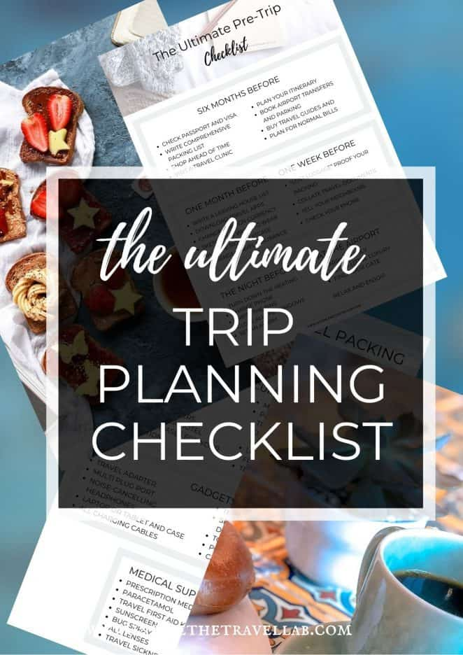 The ultimate trip planning checklist for travel preparation