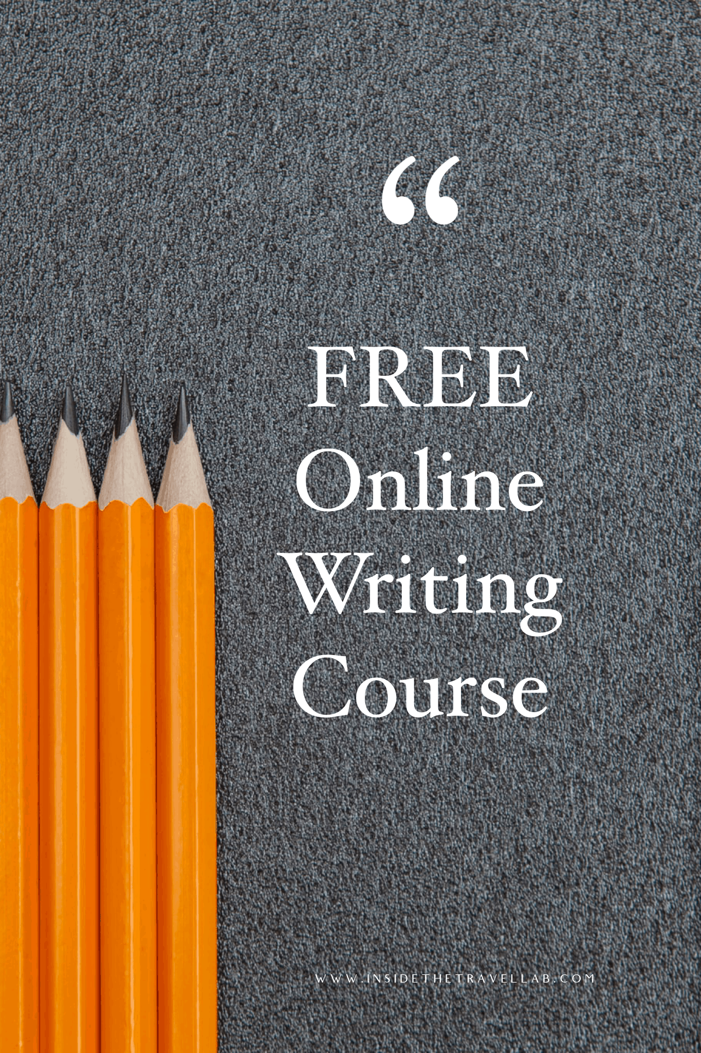 Free Online Writing Course Cover Image
