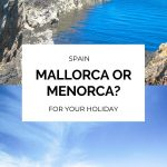 Mallorca or Menorca for your holiday in Spain? When planning your trip to the Balearic Islands, you may wonder which place is better for you. Both are gorgeous, with white sand and clear, blue water but the history and activities differ in each. Here's how to decide. #Spain #BalearicIslands #Travel