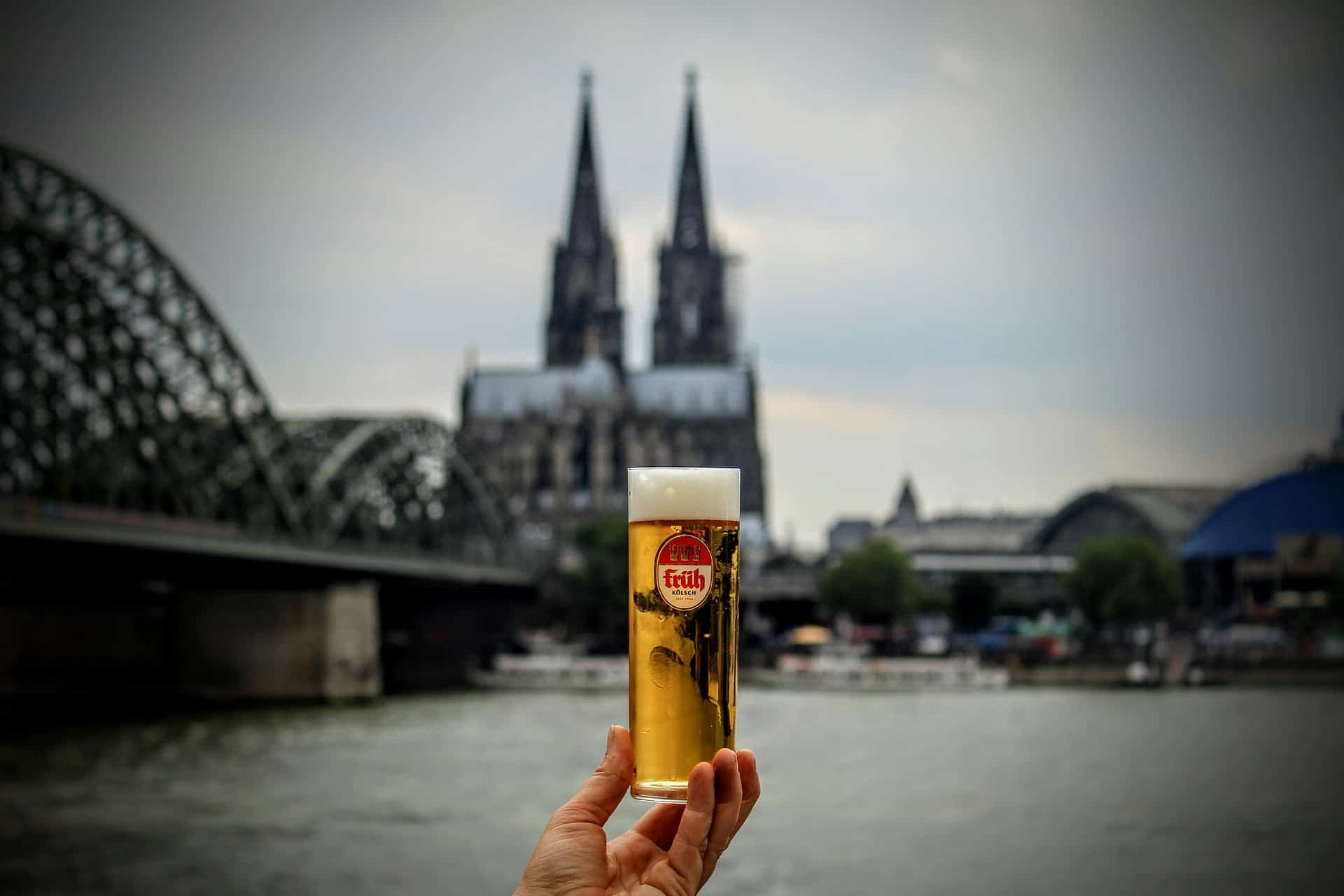 Germany - Cologne - Kolsch - Hohezollern Bridge and Rhine